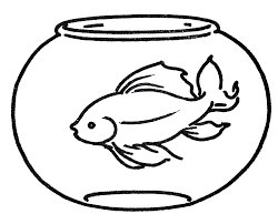 kid swimming clipart black and white. Exellent Clipart Free Clipart Goldfish In Bowl  Line Art The Graphics Fairy Throughout Kid Swimming Black And White