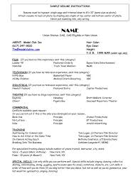 Model Resume Fascinating Sample Acting Resume Free Professional Resume Templates Download