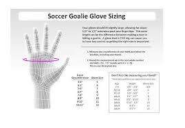Soccer Goalie Glove Sizing Chart Goalkeepers Soccer