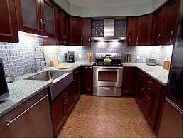 Wonderful Kitchen Backsplash Cherry Cabinets Black Counter Chocolate Brown Recycled Glass Countertops Stainless Inside Perfect Design
