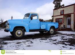 Blue pickup truck stock photo. Image of automobile, past - 28866554