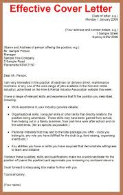 good cover letter for job application
