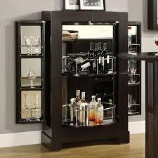 corner bars furniture. Modern Black Wooden Corner Liquor Cabinet With Curve Bottle Shelves And Glass On Right Left Side Appealing Bar Design Ideas Bars Furniture C