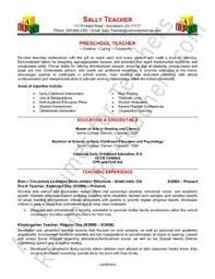 Resume Teacher Template Delectable TEACHER RESUME Template With Photo For MS Word Educator Resume