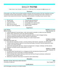 Best Loan Officer Resume Example Livecareer