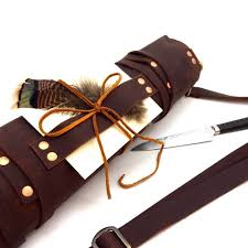 details about leather chef s knife roll chef s bag genuine leather knife roll