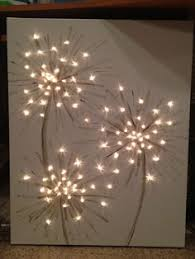 lit up canvas wall decor elmers look for less acto designer series gripster knife and cut flowers out of black cardstock that i had on hand so i wall  on lighting up wall art with lit up canvas wall decor elmers look for less acto designer series