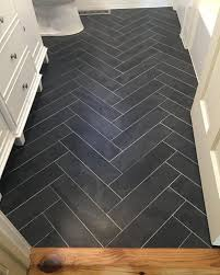 Modern Wood Tile Flooring Patterns After Worth The Wait Bathroom Big Reveal Room With Models Ideas