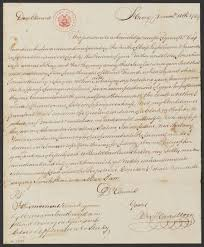 alexander hamilton s papers now online at the library of congress  an early letter written when hamilton was 12 years old note the curlicued signature