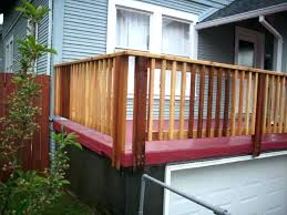 cast deck railing posts inside or outside