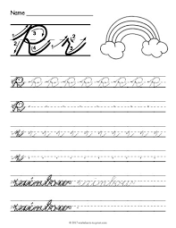 Line Paper Awesome Free Printable Cursive R Worksheet Cursive Writing Worksheets