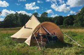 made from the same cotton canvas as our bell tents this porch takes minutes to fit to your tent and is compatible with our 4 6m bell tents as well as our