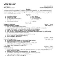 Sample Of Electrician Resumes Apprenticeship Cv Magdalene Project Org
