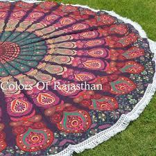 hanging beach towel. COR\u0027s Hippie Mandala Tapestry Round Roundie Wall Hanging Beach Towel Throw Yoga Mat 72\