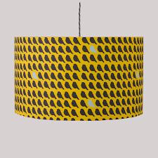 flock bird print lampshade