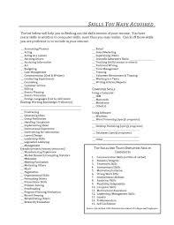computer skills resume list template computer skills resume list