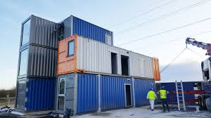 container office building. Design And Build New B\u0026A Group Office Building Located In Severn Road, Hallen Bristol. With The Completion Date Approaching Next Week, Container U