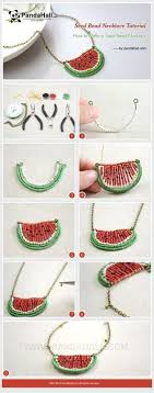 Jewelry Making Tutorial-How to Make a <b>Seed Bead</b> Watermelon ...