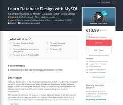 Learn Database Design Online Learn Database Design With Mysql