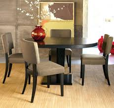 contemporary round dining table furniture espresso contemporary round dining tables set with fabrics upholstery seat kinship