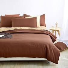 Retro Style Bedding Sets brown Bed Sheet and Duver Quilt Cover ... & Retro Style Bedding Sets brown Bed Sheet and Duver Quilt Cover Pillowcase  Soft and Comfortable King Queen Full Twin-in Bedding Sets from Home &  Garden on ... Adamdwight.com