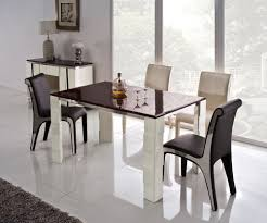 futuristic high top table sets with glamour chairs in black and white plus tilling floor and