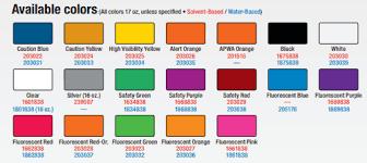 Rustoleum Paint Chart Rust Oleum Inverted Marking Paint Pallet 25 Cases