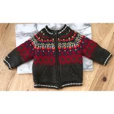 Catimini Fair Isle Full Zip Knit Sweater Jacket
