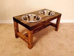 dog faces ceramic bathroom accessories shabby chic: dog bowl feeder large dog feeder farmhouse style rustic dog bowl stand raised dog bowl feeder elevated dog feeder large dog bowl