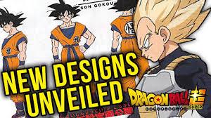 Goku Design New Dragon Ball Super Movie Character Designs Unveiled Goku Vegeta Piccolo Whis And Beerus