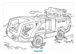 Coloriage Playmobil Policel