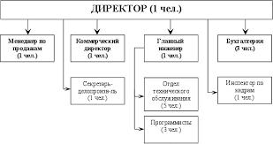 Реферат Организационная структура предприятия ее реорганизация  Директор