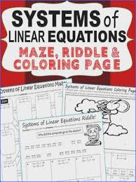 have your students apply their understanding of systems of linear equations with these fun activities including