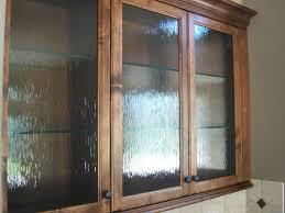 water glass in custom cabinet doors