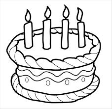 Tranh tô màu bánh sinh nhật đơn giản đẹp nhất cho bé yêu