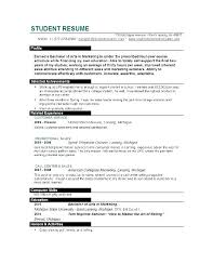 Sample Resumes Examples Stunning Sample Resume For College Student Looking Summer Job Recent Graduate