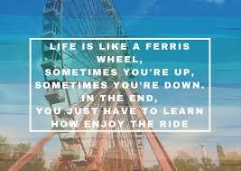 Life Is Like A Ferris Wheel Riesenrad Zitat Quote Spruch Englisch