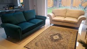 Laura Ashley Kingston large two seater sofa setee teal brand new beautiful  in London - Expired   Friday-Ad