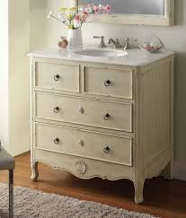 34 inch bathroom vanity cottage beach style vintage cream color 34 wx21 dx35