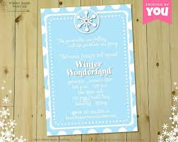 Winter Wonderland Invitation Diy Printable By Piggybankparties