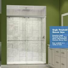 dreamline slimeline white acrylic shower base with center dreamline slimline single threshold