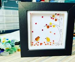 Pin by Polly Jensen on Obsession | Sea glass art, Art pictures, Autumn trees