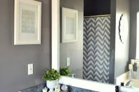 trim around bathroom mirror. Impressive Trim Around Bathroom Mirror On Intended How To Frame Out That Builder Basic