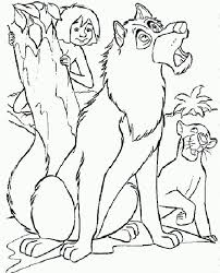 Jungle Book Wolf Coloring Page Coloringplus 174757 Jungle Coloring