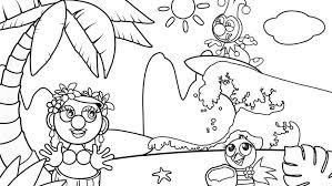 Hawaii Kleurplaat Jokie Efteling Kids