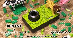 Lego Digital Camera : Pentax vs nanoblock when mini lego invade your digital camera