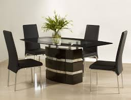 image of contemporary glass dining sets