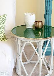 diy glitter furniture. DIY Thrift Store Side Table Idea With Glitter And Brass Accents Diy Furniture