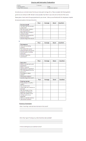 Business Evaluation Form