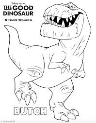 Small Picture The Good Dinosaur Coloring Pages GetColoringPagescom